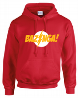 BAZINGA FLASH HOODIE - INSPIRED BY BIG BANG THEORY SHELDON COOPER FLASH